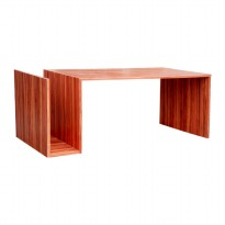 Prissilai Meja Minimalis Metapod Pine Coffee Table