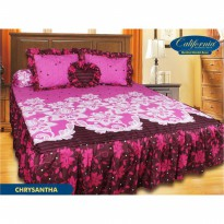 New Sprei Rumbai California Chrysantha 180X200 Tanpa Bantal Hati / Spf 325
