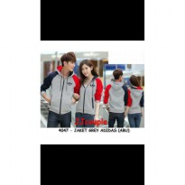 Supplier baju couple sweater kemeja import wanita murah GREY ADIDAS