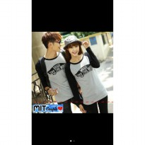 Supplier baju couple sweater kemeja import wanita murah VANS LP ABU