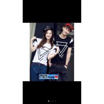 Supplier baju couple sweater kemeja import wanita murah DOUBLE TRIANGL