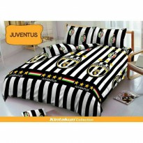 New Sprei  Single Juventus By Kintakun Deluxe 120*200 Cm / Spf 421