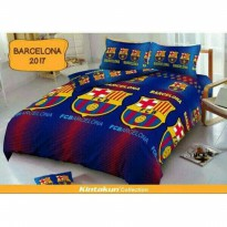 New Sprei Single Barcelona By Kintakun Deluxe 120*200 Cm / Spf 422
