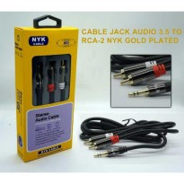 NYK Kabel Audio 3.5mm to RCA 1.5m Gold