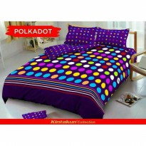 New Sprei Kintakun Deluxe Polkadot Single 120X200 Cm / Spf 487