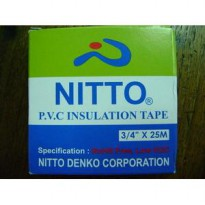 Nitto PVC Insulation Tape 3/4' X 25 M (Black)