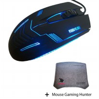 Rexus RXM-G3 Mouse Gaming + Free Hunter Mouse Pad Gaming Wild Wolf