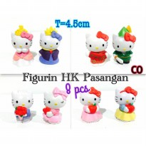 Figurin Hello Kitty Pengantin Isi 8
