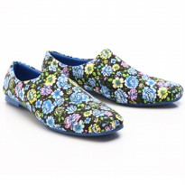 Dr.Kevin Ladies Flat Shoes Candytuft 43105 Blue