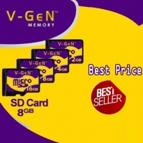★Micro SD★ V-GEN│VGEN│8 GB│Class 6 no Adapter│