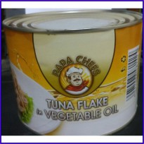 TUNA CHUNK IN OIL PAPA CHEFS 1.8kg