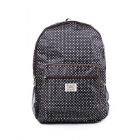 London Berry by HUER - Rene Packable Backpack Large Polkadot Black