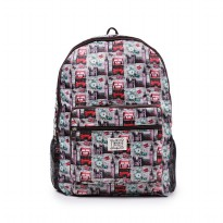 London Berry by HUER - Rene Packable Backpack Large London Bus
