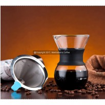 Mokhamano V60 Pour Over Coffee Cone Dripper Reusable 1 Cup (No Stand)