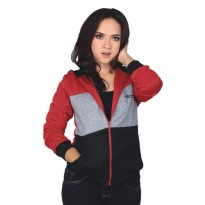 Catenzo Jacket Hoodie Wanita SEx004 Red Comb