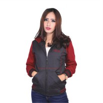 Catenzo Jacket Hoodie Wanita SEx035 Black