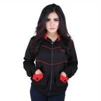 Catenzo Jacket Hoodie Wanita SEx052 Black