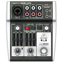 BEHRINGER XENYX 302USB PREMIUM 5 INPUT MIXER WITH MIC PREAMP AND USB AUDIO INTERFACE