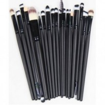 Turun harga !! Cosmetic Make Up Brush 20 Set / Kuas Make Up - Black