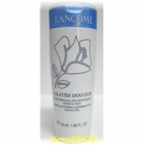 LANCOME GALATEIS DOUCEUR GENTLE SOFTENING CLEANSING FLUID FACE AND EYES 50ML