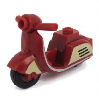 Lego Custom Scooter BrickForge (Retro Red)