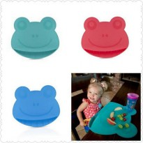 Nuby Frog Silicone Placemat Sure Grip Miracle Mat Alas Makan Anak