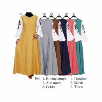 Gamis Maxi Balotelly Mix Katun Bordir GM1961