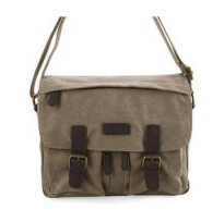Tas Triset Canvass Middle Messenger (Original) _ Beige Up To 10 Inch