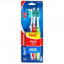 Oral B All Rounder 123 Clean Medium 3s