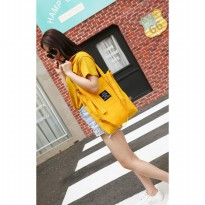 korea solid color tote shoulder bag/tas selempang wanita