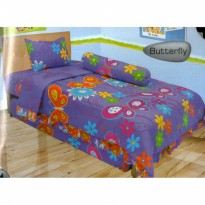 New Sprei Lady Rose Butterfly 100X200 Ukuran Khusus / Spf 750