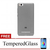 Case for Xiaomi Mi 4i - Abu-abu + Gratis Tempered Glass - Ultra Thin Soft Case