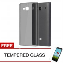 Case for Xiaomi Redmi 2 - Abu-abu + Gratis Tempered Glass - Ultra Thin Soft Case