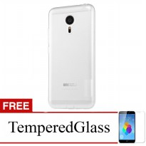 Case for Meizu M2 Note - Clear + Gratis Tempered Glass - Ultra Thin Soft Case