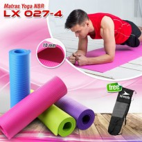 Jual Matras Yoga Mat Karpet Spons Tikar Speeds NBR 183 x 61CM 10MM + Tas - Pink Berkualitas