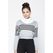 Heart and Feel Stripes Casual Top 1208.B