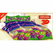 New Bedcover Set King Size Bonita Motif Orchid / Spf 853
