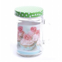 1PCS NAKAMI GLASS CANISTER / TOPLES KACA - 800ML (NK-GCH800-DG)