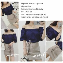 HQ 13809 Blue SET Top+Skirt (size S M)