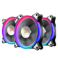CUBE GAMING AURA FLOWING RGB DOUBLE RING FANS 3 Pcs Ring Fan
