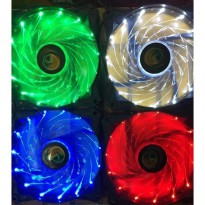 CUBE GAMING BRIGHT - 15 LED FAN 12CM 1300RPM - RED/GREEN/BLUE/WHITE