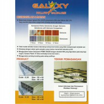 HOLLOW GALVALUME GALAXY 0,30MM 20 X 40 X 4 meter