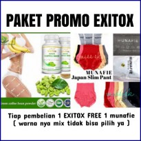 [ Paket promo ] exitox green coffee free munafie slim pants