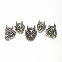 Cincin Hanya Ring Ony Mask Japan Demon Skull Ring Murah