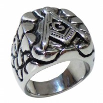Cincin Freemasons Ring Murah Masonic Ring Stone Word Relief