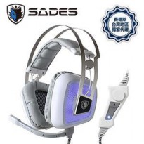 SADES 919 Antenna White Edition - Gaming Headset
