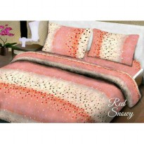 New Sprei Belladona Red Snowy 180X200 / Spf 1017