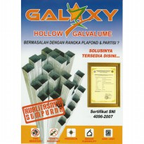 HOLLOW GALVALUME GALAXY 0,30MM 40 X 40 X 4 METER