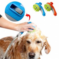Kepala Shower Air 2 in 1 Sikat Mandi Anjing Pet Grooming Tool
