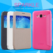 Nillkin Sparkle Leather Case Flip Cover Samsung Galaxy J7 (2016) - 100% Original